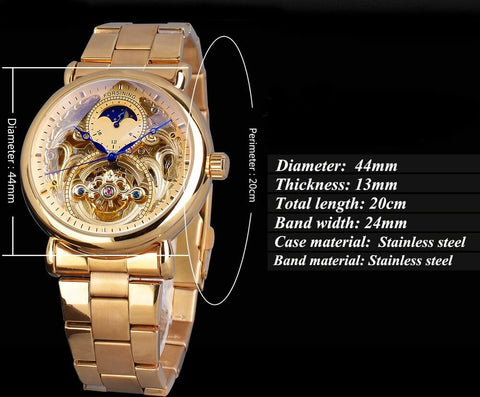 Golden Moon Automatic Mechanical Watches For Men detail1