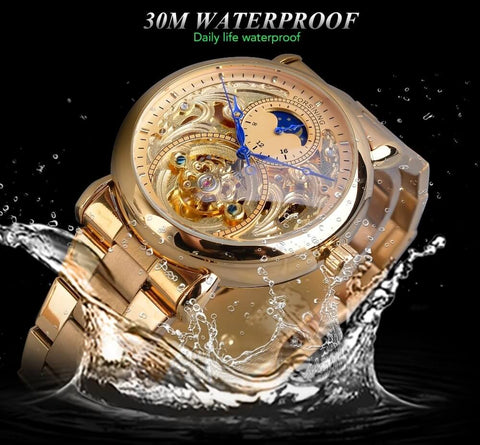 Golden Moon Automatic Mechanical Watches For Men detail2