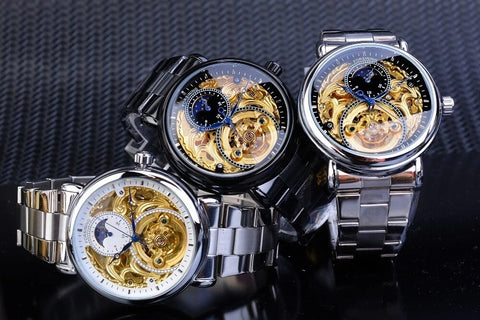 Golden Moon Automatic Mechanical Watches For Men detail6