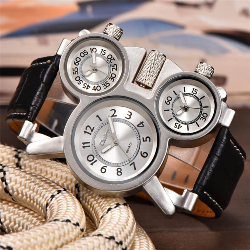 3 Time Zone Male Watch