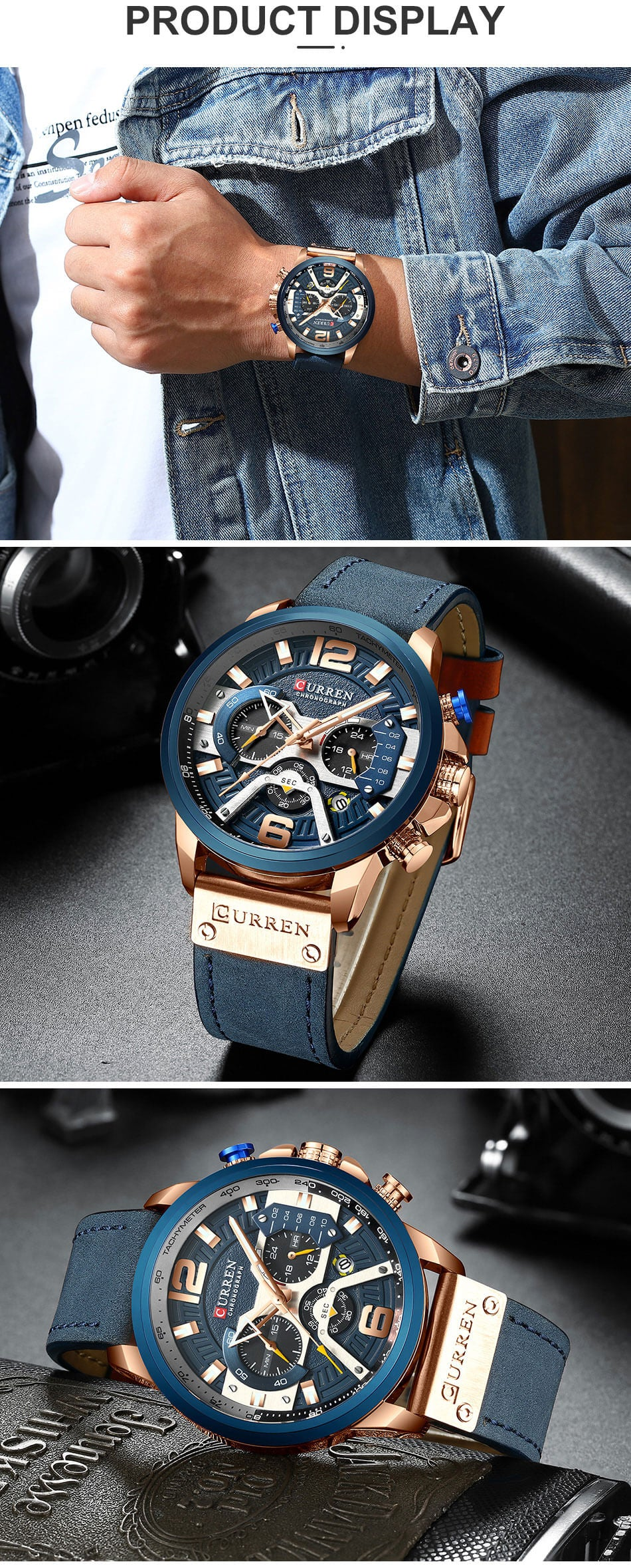 Waterproof Leather Sports Watches