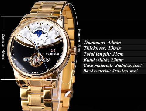 Royal Moonphase Automatic Mechanical Watches For Men detail1