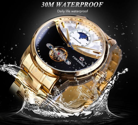 Royal Moonphase Automatic Mechanical Watches For Men detail1 waterproof