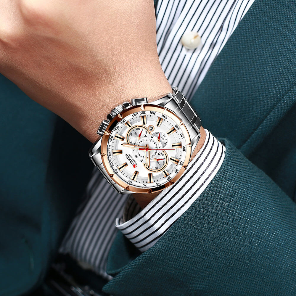 galaxytimepiece Male Big Watch Silver