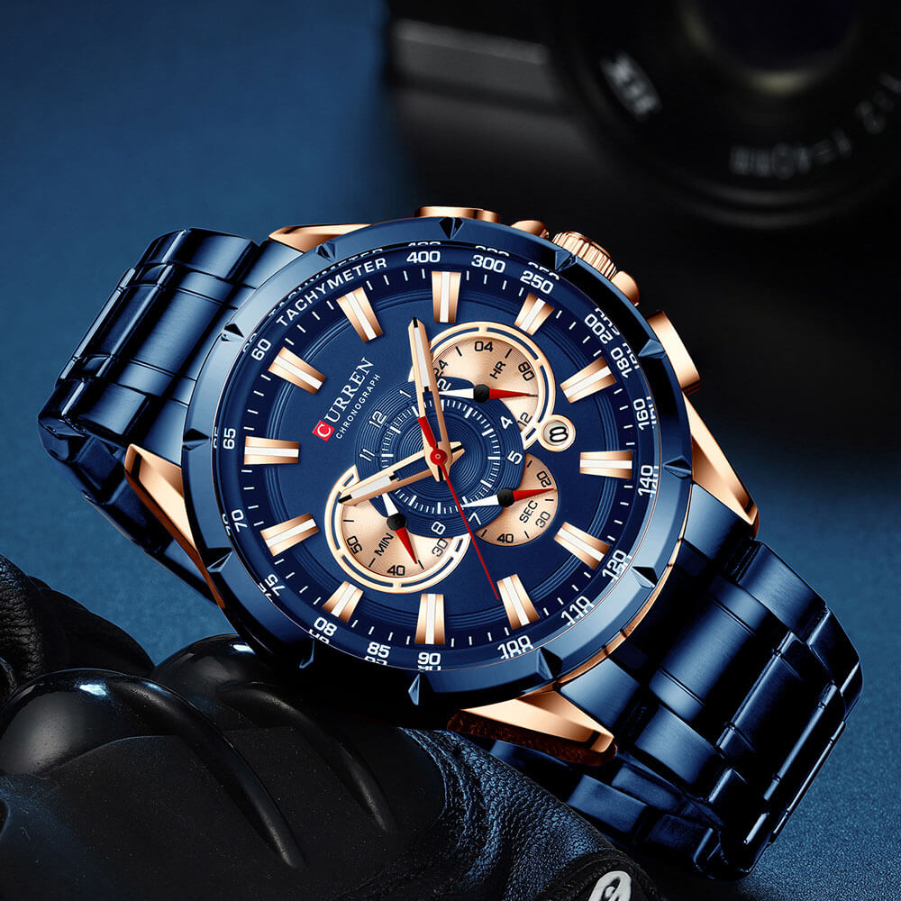 galaxytimepiece Male Big Watch blue