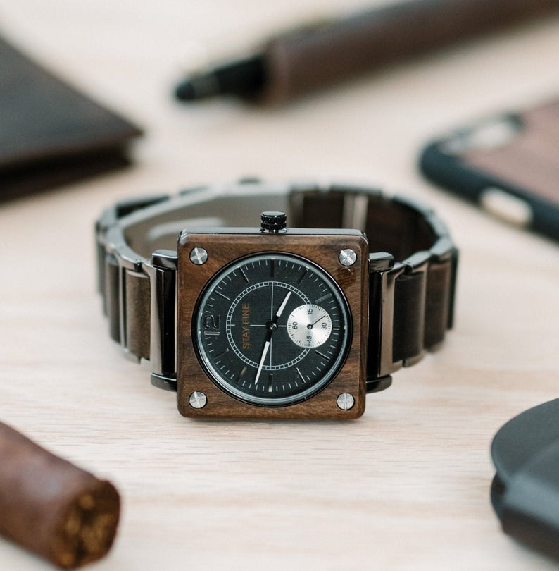 Engraved Wooden Watch 01