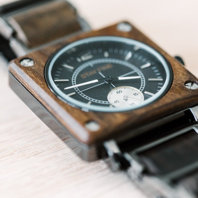 Engraved Wooden Watch 02