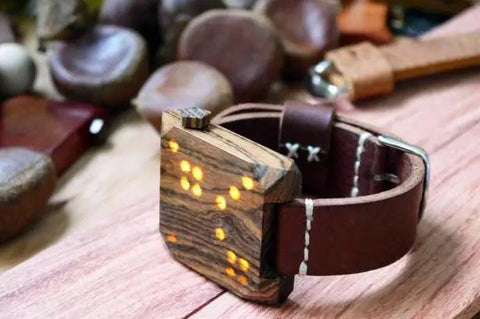 wooden watches that can play games
