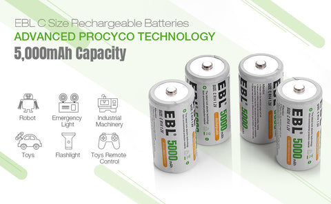 5000mAh C Rechargeable Battery