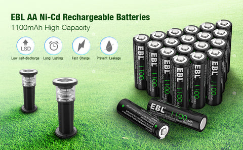 AA Ni-Cd Rechargeable Batteries