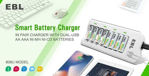 battery charger for aa and aaa rechargeable batteries