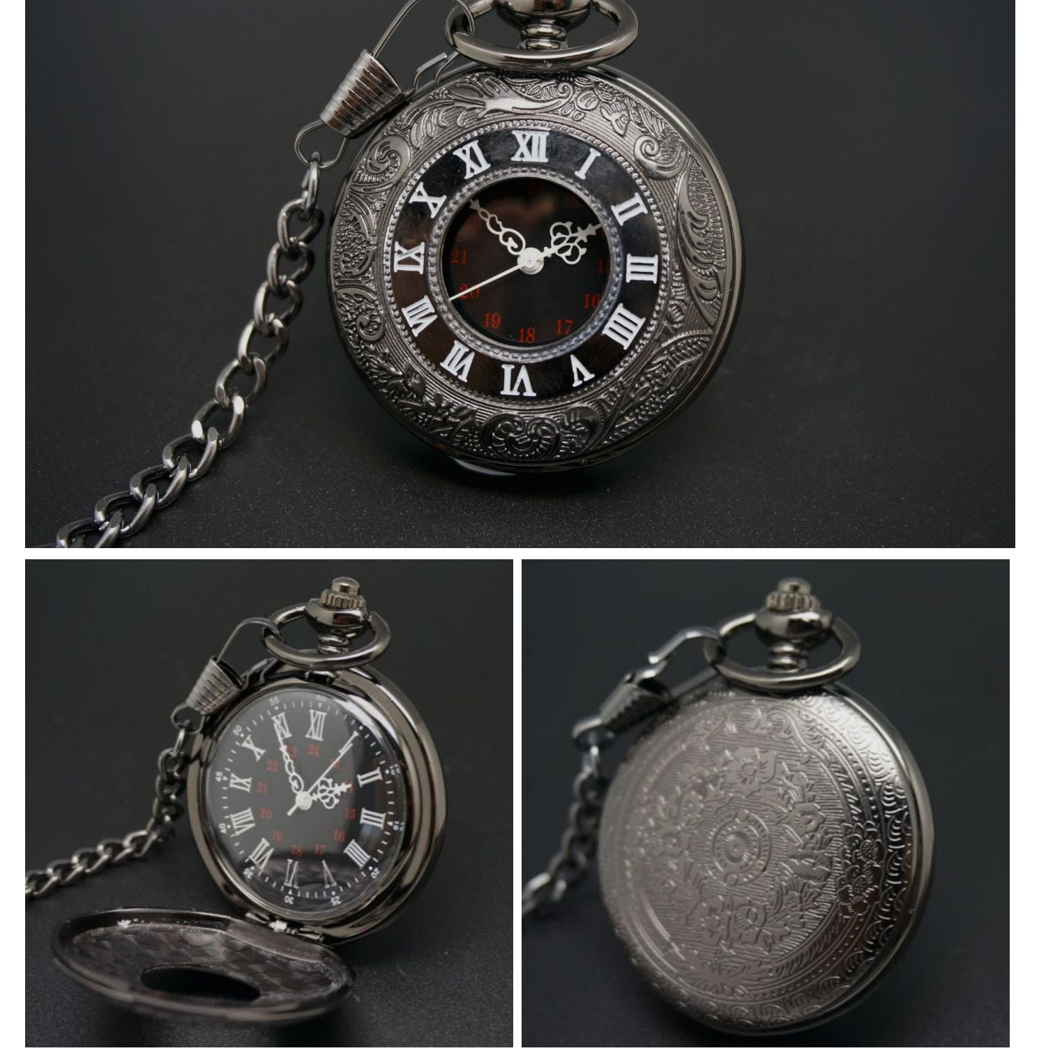 Gear Electronic Pocket Watch-aolanscctv