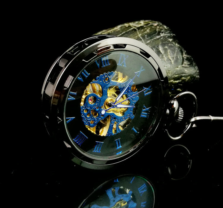 Steampunk Retro Luminous Mechanical Pocket Watch-aolanscctv