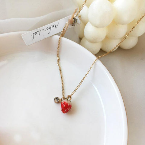 Strawberry Clavicle Necklace