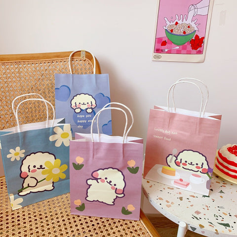 Cute Dog Paper Gift Bags