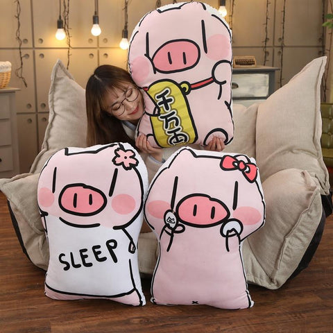Sleep Piggy Plush Pillow