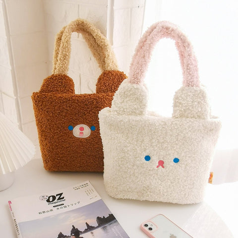 Vertical Eared Rabbit Tote Bag