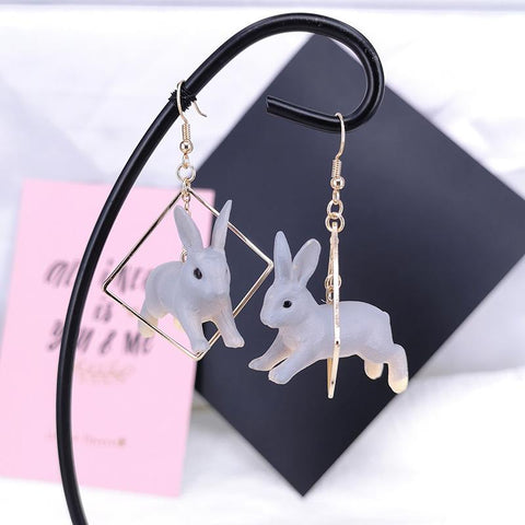 Jumping Bunny Earrings