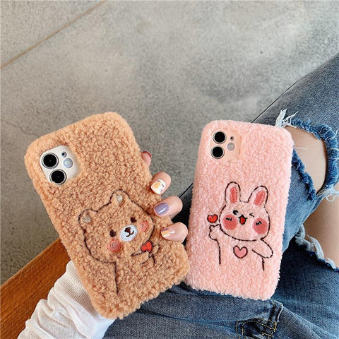 Plush Love Bear Phone Case