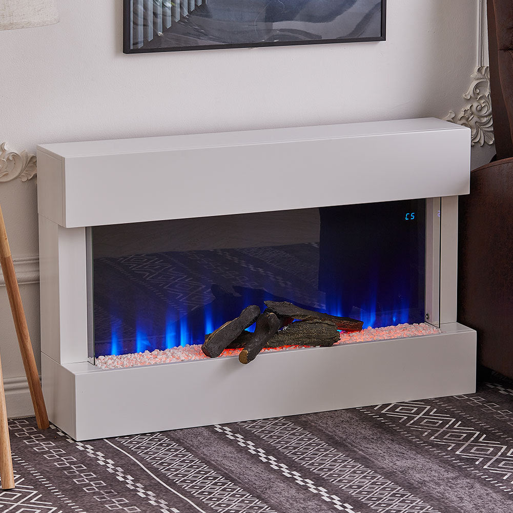 Wall Mounted 7 Colour LED Electric Fireplace Heater Suite w/Remote Control /WIFI