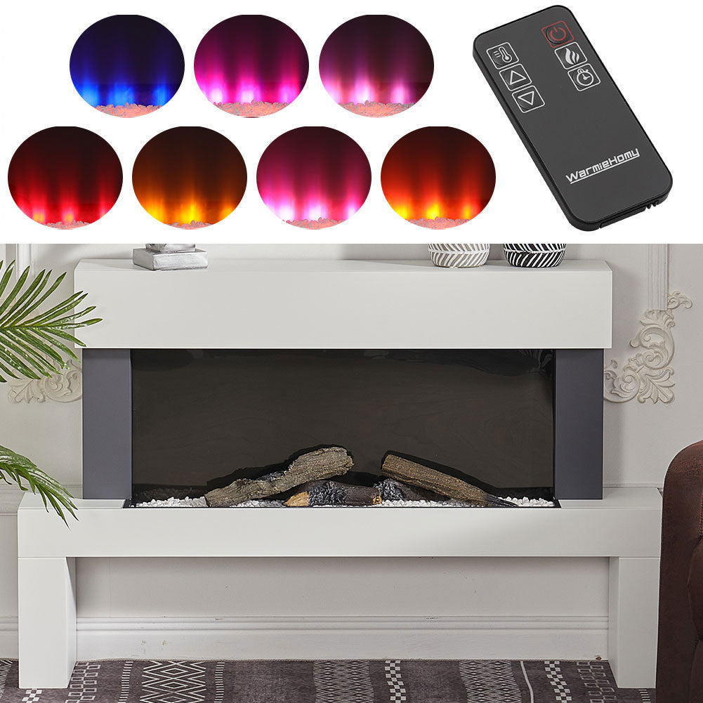 Freestanding 7 Colour LED Electric Fireplace Heater Suite w/Remote Control /WIFI