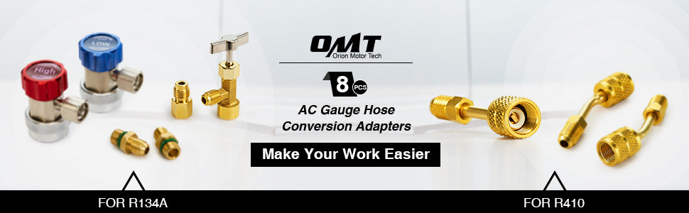 AC Gauge Hose Conversion Adapters
