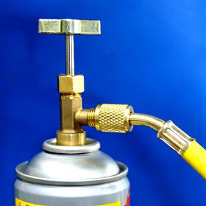 R134A Can Tap Refrigerant Dispenser with Tank Adapter