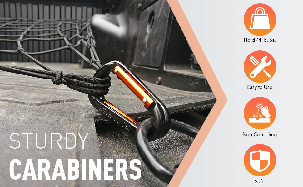 Sturdy Carabiners Cargo Nets