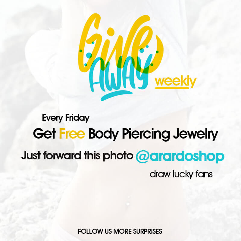 Every Friday Get Free Body Piercing Jewelry