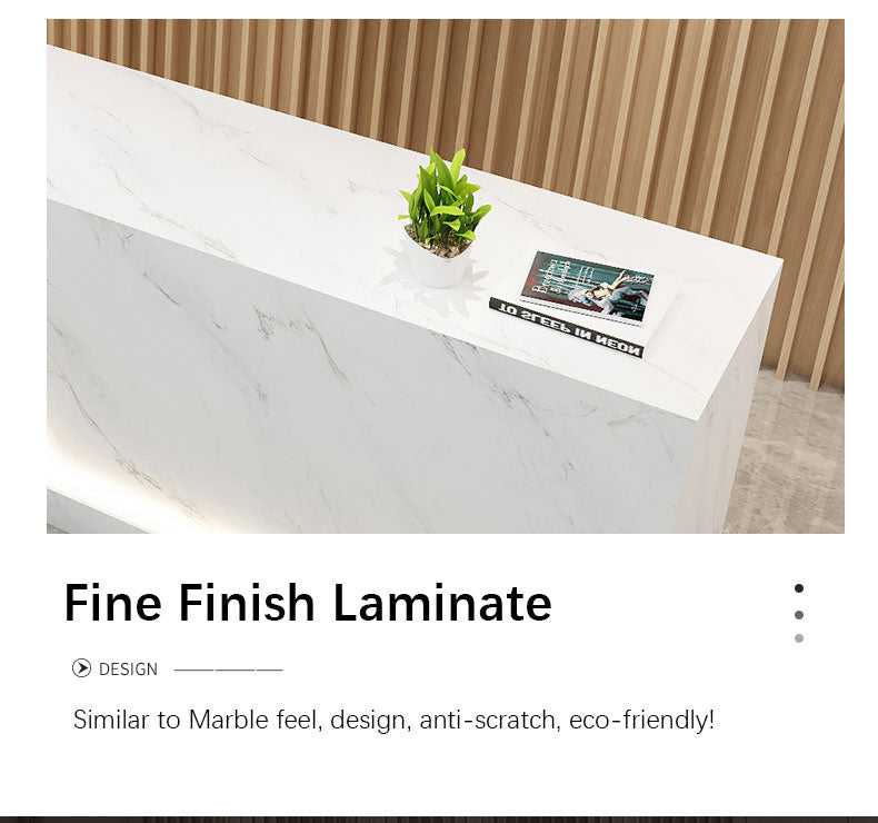 Small Reception Desk for Beauty Salon with LED Light