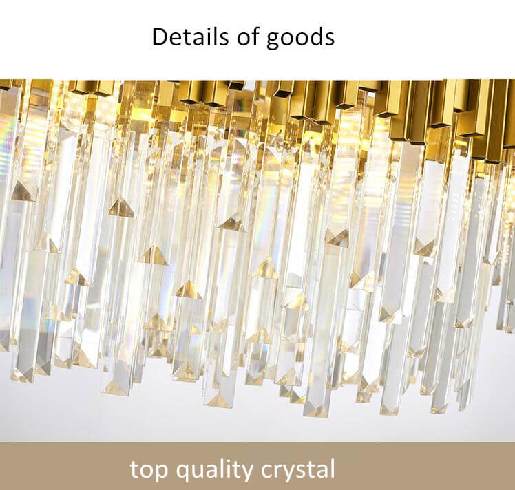 American luxury hotel lobby LED round crystal chandelier-top quality crystal
