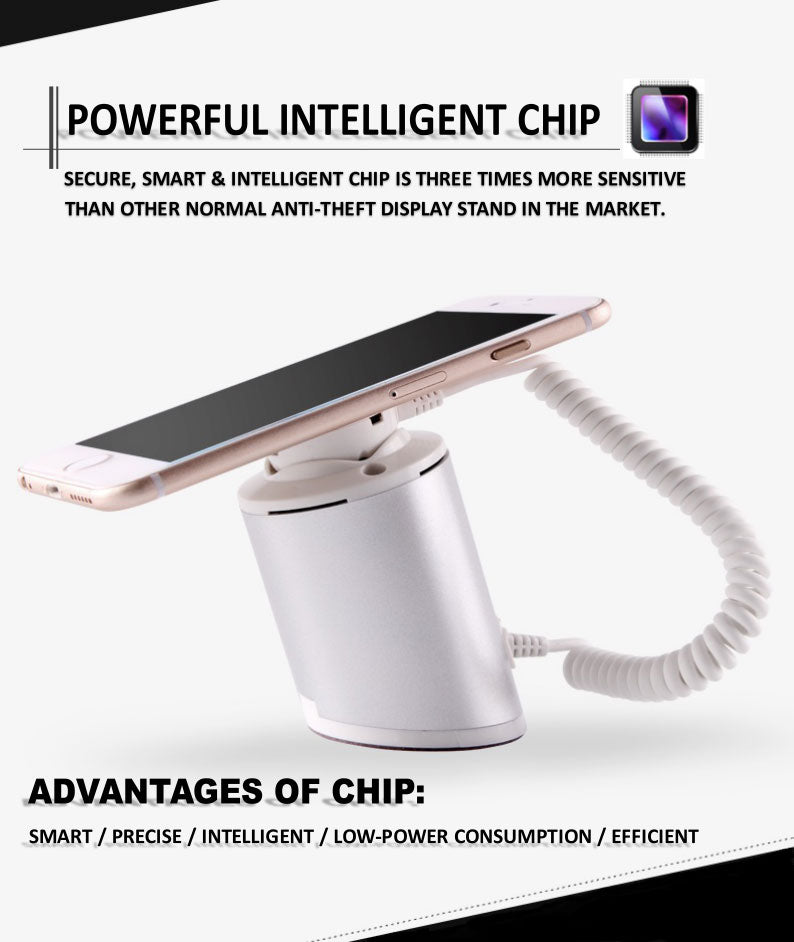 Phone Anti-theft Display Stand with Alarm and Charging Function