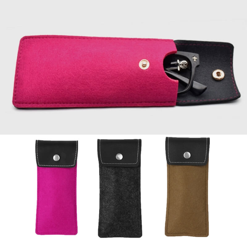 Artificial leather soft glasses case