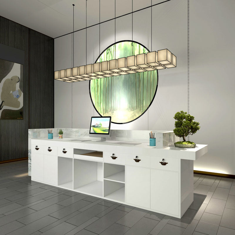 The internal structure of the Beauty salon modern small reception desk