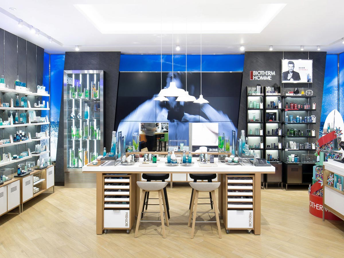 Biotherm at the New World Shopping Mall in Beijing, China