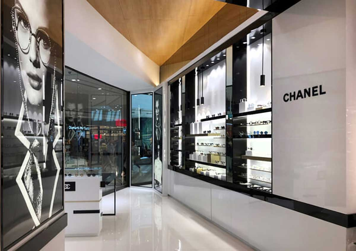 Chanel Eyewear store in Linacente, Rome