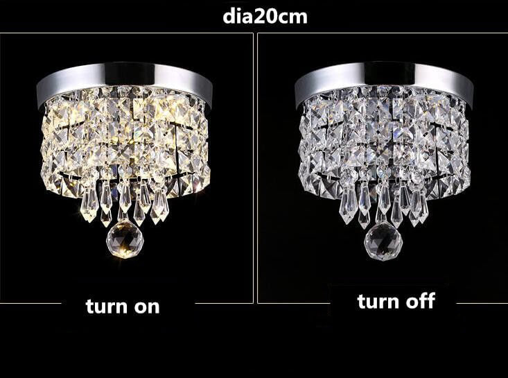 Channel aisle crystal chandelier Diameter 20cm Switch lights comparison
