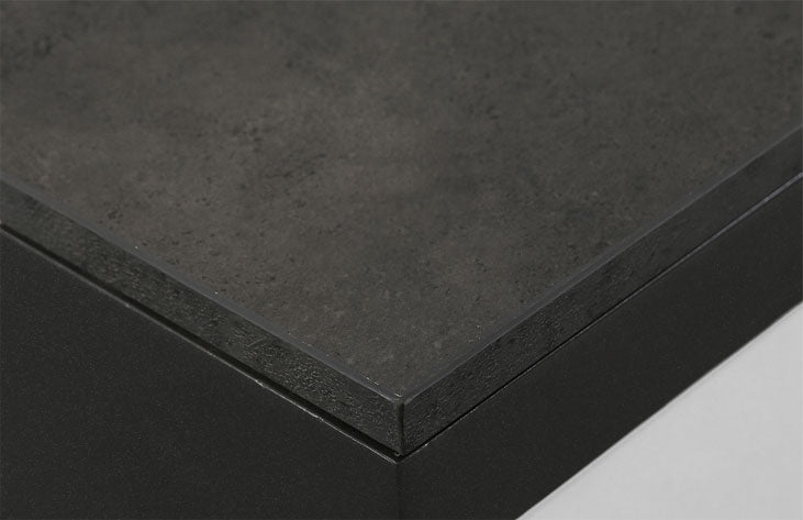 The internal countertop of the reception desk, dark gray rough surface imitation stone paint-free ecological board