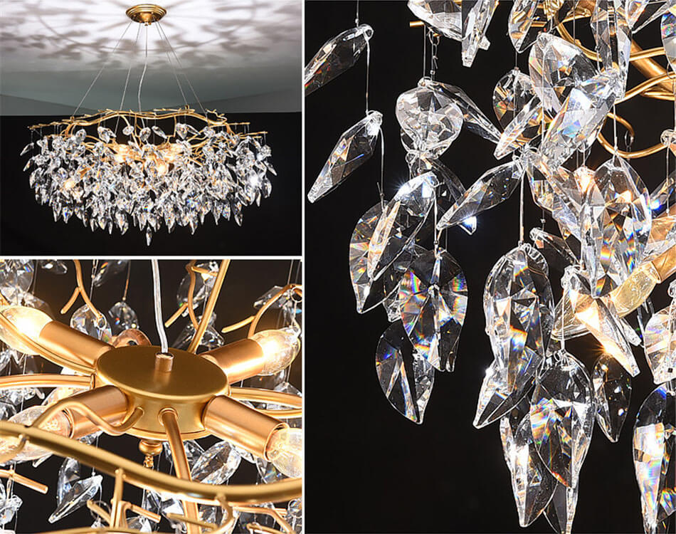 French style light luxury creative crystal chandelier for living room Show details