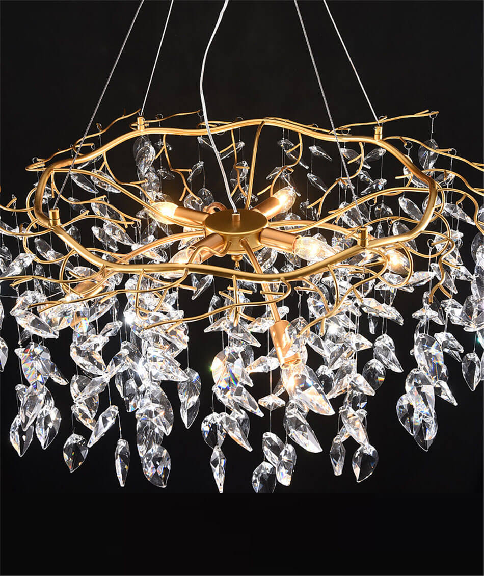 French style light luxury creative crystal chandelier for living room Show details (2)