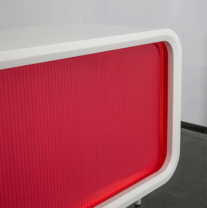 Wave pattern molding board, rose red paint
