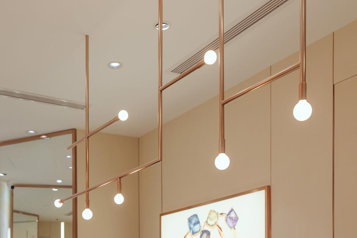 Decorative lights used in jewelry stores