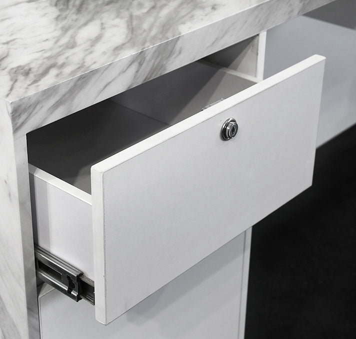 Drawer at the reception desk