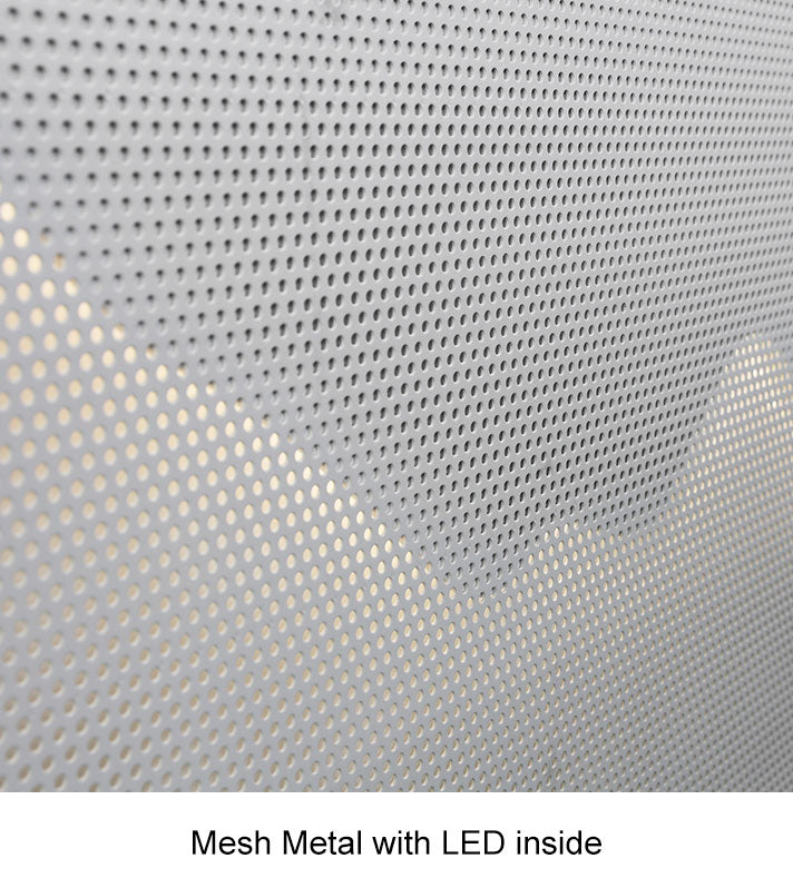 Mesh Metal with LED inside