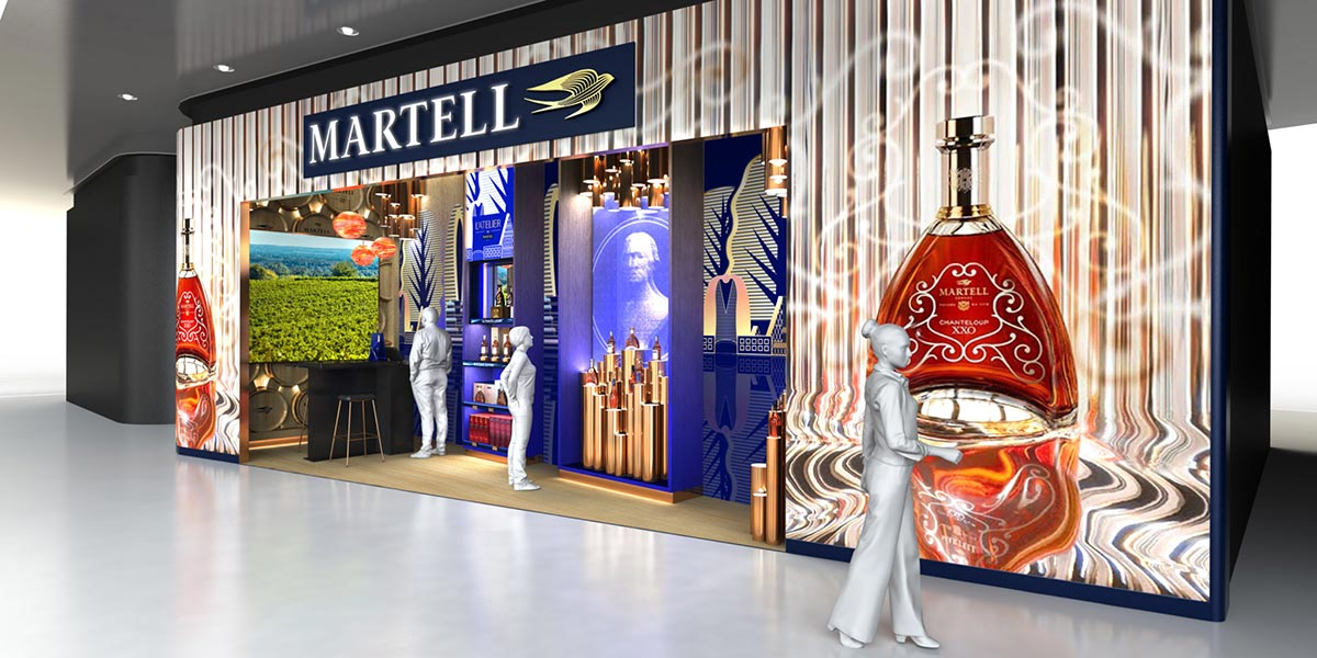 Martell liquor boutique renderings