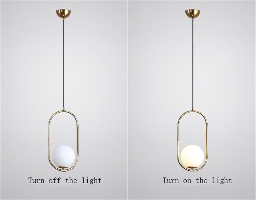 Nordic bedside oval chandelier switch light comparison