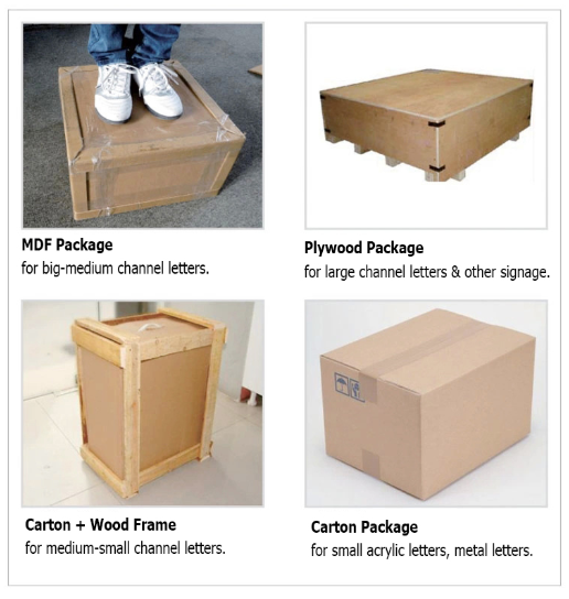 Four kinds of packaging