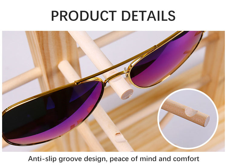 Pine sunglasses display stand Anti-slip design