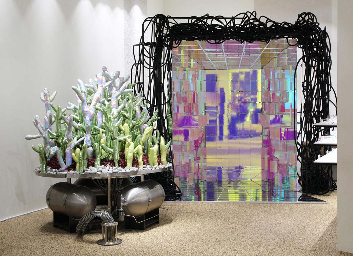 Special display area design for gentle monster glasses store