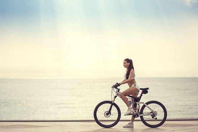 Go out for a walk on a bicycle